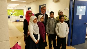 Minister Eggen meeting with kids from the Fort McMurray Islamic School