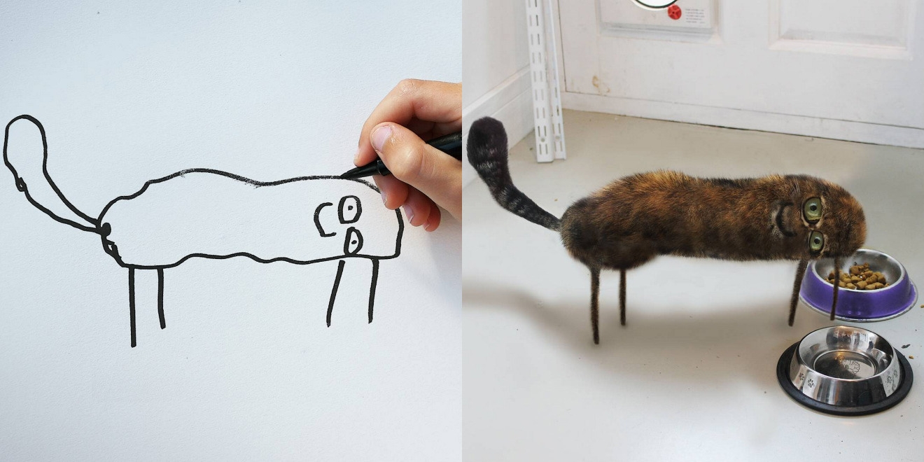 Cat Drawing Both