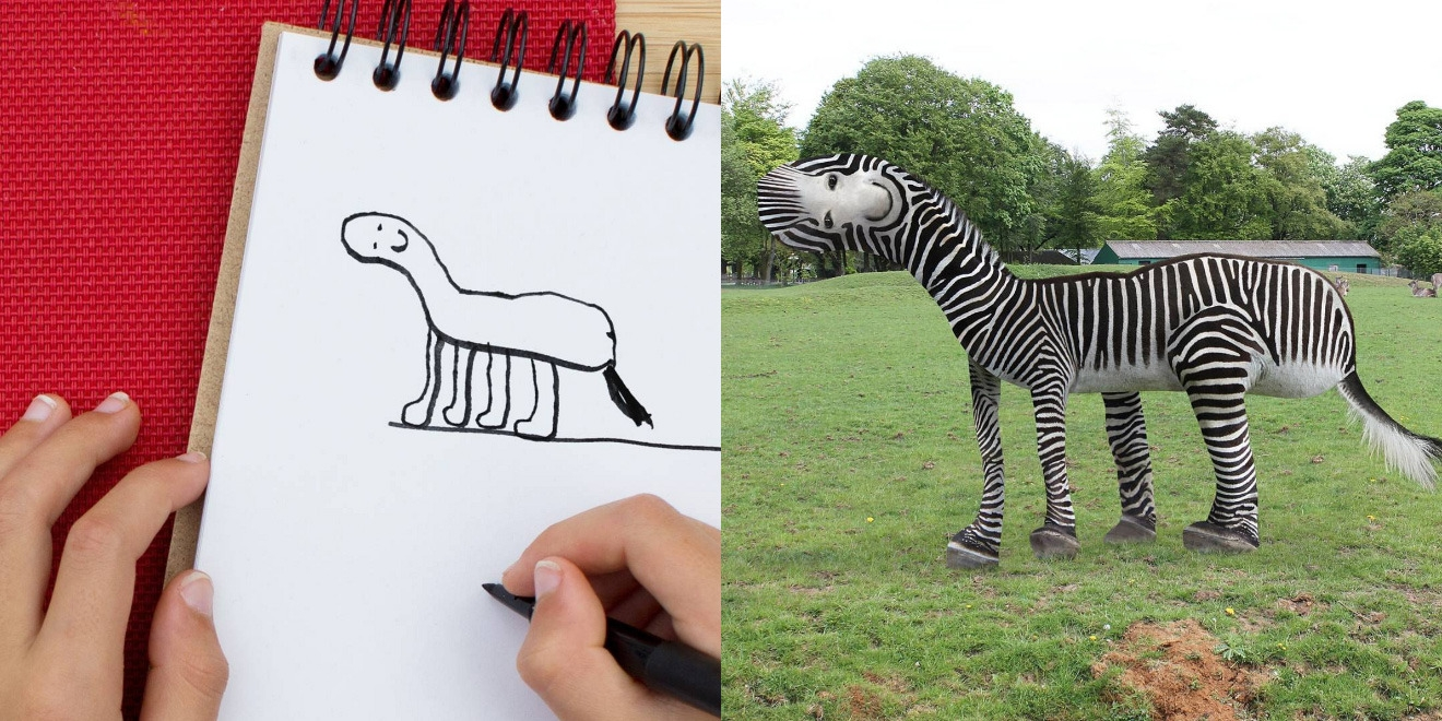 Zebra Drawing Both