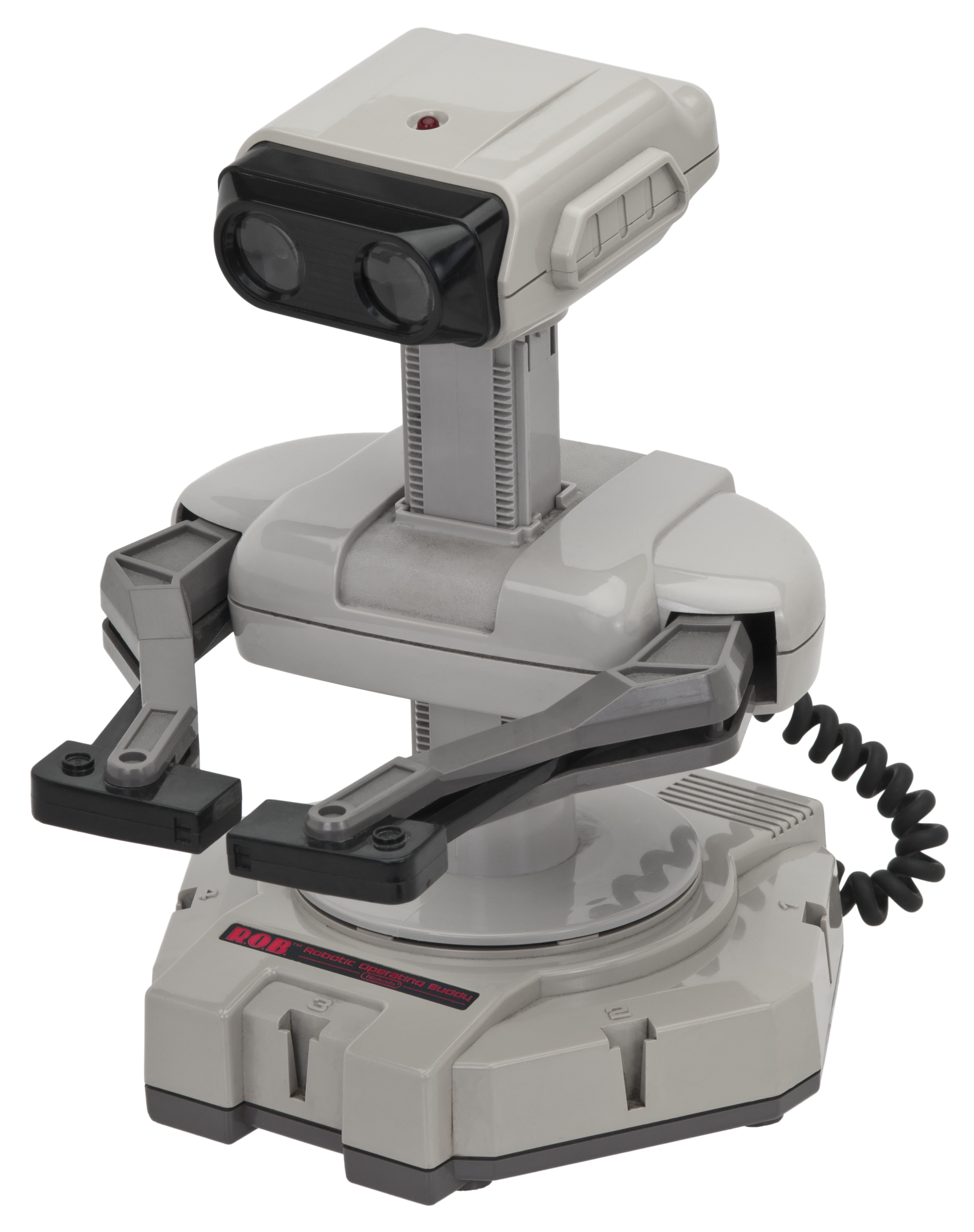 It's an iconic image now, but originally the R.O.B. robot only worked with 2 games and did a better job at scaring pets.