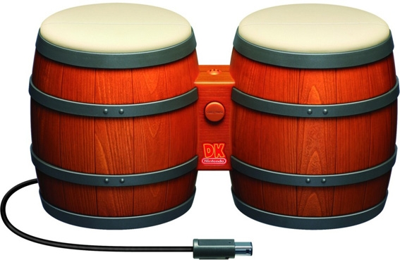 The Donkey Kong Bongos. Designed for one game, though they were compatible with others. How do you play Smash Bros with bongos though?